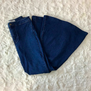 Free People SHORT High Waist Super Flare Jeans 28